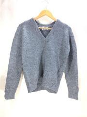セーター(厚手)/S/ウール/GRY/無地