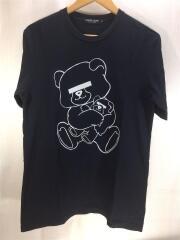 Tシャツ/L/コットン/BLK/目隠し/クマ