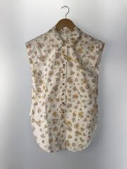 floral print blouse/36/コットン/WHT/花柄/CHS19UHT16023