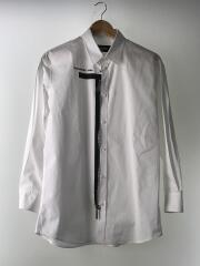 Poplin Shirt With Zipper/48/コットン/WHT/S74DM0399/S36275/長袖シャツ