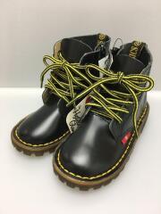 5ホールブーツ/16cm/革靴/BLK