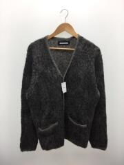 MOHAIR CARDIGAN/3/ナイロン/GRY/202FUNH-KNM05