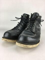 ブーツ/US9.5/BLK/レザー