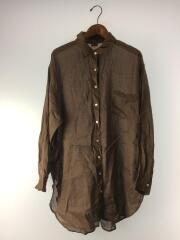 シアールーズシャツ/FREE/リネン/BRW/無地/111940413801-01/19年モデル