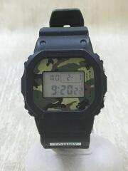 ×TOMMY/クォーツ腕時計/デジタル/ラバー/ブラック/ブラック/DW-5600VT/カシオ/トミー