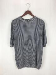 Tシャツ/--/シルク/BLK/ストライプ