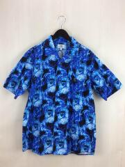 半袖シャツ/XL/コットン/BLU/総柄/アベイシングエイプ/001SHG301011X/ブルー