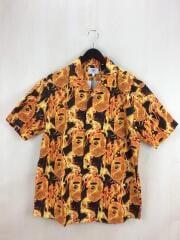 半袖シャツ/XL/コットン/ORN/総柄/アベイシングエイプ/001SHG301011X/オレンジ
