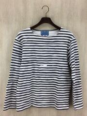 head goonie/長袖Tシャツ/M/コットン/GRY/ボーダー