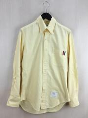 長袖シャツ/1/コットン/YLW/左袖にシミ