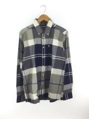 ボタンダウンチェックシャツ/L/コットン/NVY/チェック