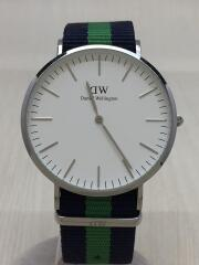 腕時計/アナログ/--/SLV/GRN