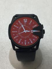 ディーゼル/クォーツ腕時計/アナログ/レザー/RED/BLK