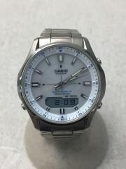 カシオ/ソーラー腕時計・WAVECEPTOR/デジアナ/SLV
