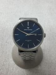 マリオヴェレンチノ/クォーツ腕時計/アナログ/ステンレス/NVY/SLV