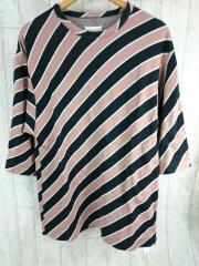 18315077/Tシャツ/1/コットン/PNK/ストライプ