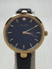 ケイトスペードニューヨーク/クォーツ腕時計/ホーランド/アナログ/レザー/NVY/KSW1157