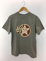 Tシャツ/L/コットン/GRY/プリント/キャリー