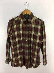 ペンドルトン/70s/USA製/ネルシャツ/M/ウール/RED/チェック