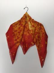 スカーフ/シルク/オレンジ/モノグラム/箱有/