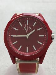 クォーツ腕時計/アナログ/ラバー/RED/RED/AX2632