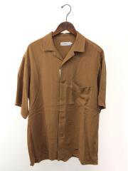 グラフペーパー/半袖シャツ/1/モダール/キュプラ/キャメル/無地/GM191-50023