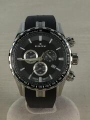 エドックス/10226//グランドオーシャンクロノグラフ/クォーツ腕時計/アナログ/ラバー/ブラック