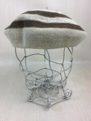 cableami/ベレー帽/XL/リネン/BRW/ボーダー