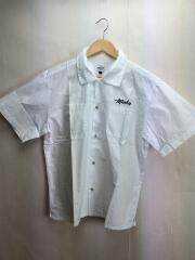 MASH UP/オープンカラー/半袖シャツ/L/コットン/WHT/刺繍