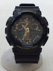 G-SHOCK/クォーツ腕時計/デジアナ/ラバー/KHK/BLK