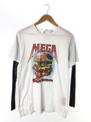 18SS/MEGA DEATH BURGERプリントTEE/FREE/01181CL07/コットン/WHT/