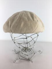 ベレー帽/ハンチング/リネン/WHT