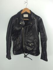 vintage leather riders jacket/ダブルライダースジャケット/170/羊革/BLK//    1000402811