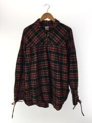 String Shirt/プルオーバーシャツ/長袖シャツ/M/コットン/RED/チェック