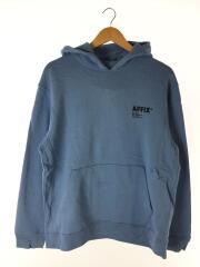 AFFIX 12 BASIC HOODIE/プルオーバーパーカー/L/コットン/BLU/5568-343-0387