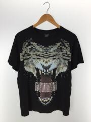 TIGER/Graphic Tee/虎/Tシャツ/S/コットン/BLK