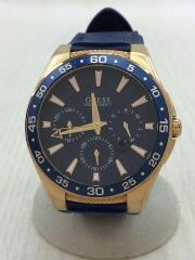 ATLANTIC/クォーツ腕時計/アナログ/W1171G4/ラバー/ネイビー