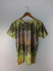 Tシャツ/M/コットン/YLW/総柄