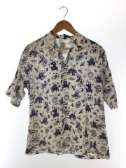 半袖シャツ/M/19SS-SY5-003/レーヨン/ホワイト/総柄/オープンカラーシャツ