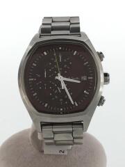 クロノグラフ腕時計/アナログ/ステンレス/BRD/SLV/クォーツ
