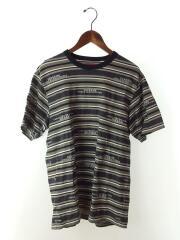 HQ Stripe S/S Top/Tシャツ/M/コットン/GRY/ボーダー