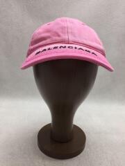 BASEBALL CAP/ベースボールキャップ/L/ロゴ/デニムキャップ/コットン/ピンク