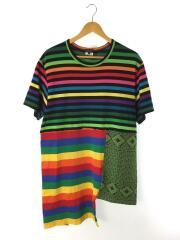 20AW/PANELLED ASYMMETYIC TARTAN T-SHIRTTシャツ/L/コットン/マルチカラー