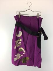 ラップスカート/スカート/36/SAH-FSK84-2010/刺繍/レーヨン/パープル