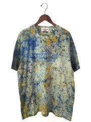 Tシャツ/L/コットン/BLU/総柄