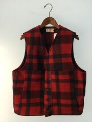 Mackinaw Wool Vest/マッキーノウールベスト/ウール/レッド/チェック
