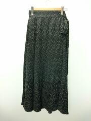 21SS/ロングスカート/one/09WFS211321/ポリエステル/ブラック/総柄