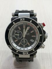 GC Chronograph Quartz/クォーツ腕時計/ステンレス/ブラック/GC46000G