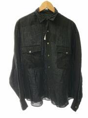 ポータークラシック/Roll Up LINEN Shirt/長袖シャツ/M/リネン/ブラック/無地
