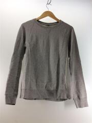 crew neck freedom L/S sweat shirt/46/コットン/グレー